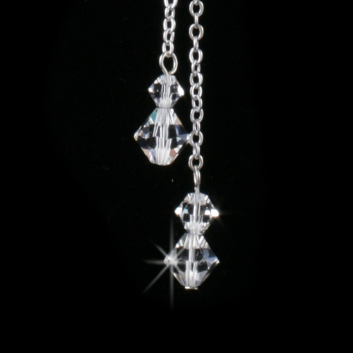 Silver Clear Necklace 8426