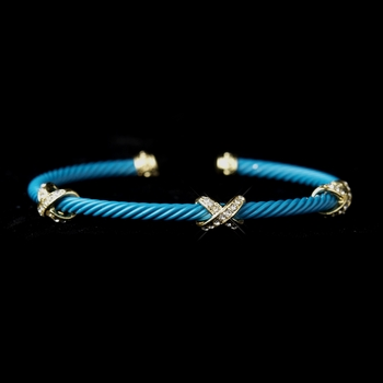 Gold Turquoise Cuff Bracelet 8815
