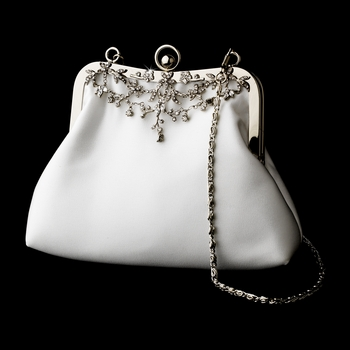 * Satin & Rhinestone Encrusted Bridal Purse 11