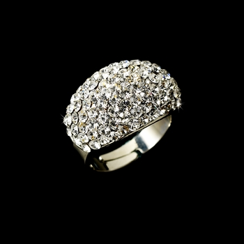 Glamorous Silver Clear Pave Rhinestone Ring 921  ** Discontinued **
