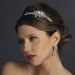 Antique Silver Clear Swarovski Crystal & Multi Cut Rhinestone Side Accented Headpiece 940