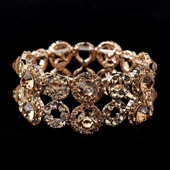 Rose Gold Crystal Stretch Bracelet 8658