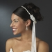 Elegant White or Ivory Greek Stefana Wedding Crowns w/ Silver Beading 8018