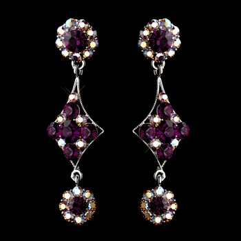 Amethyst Earring Set 1265
