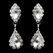 Silver Clear Rhinestone Necklace & Earrings Jewelry Set 47015