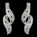 Silver Clear Rhinestone Necklace & Earrings Jewelry Set 47445