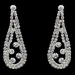 Silver Clear Rhinestone Necklace & Earrings Jewelry Set 47448