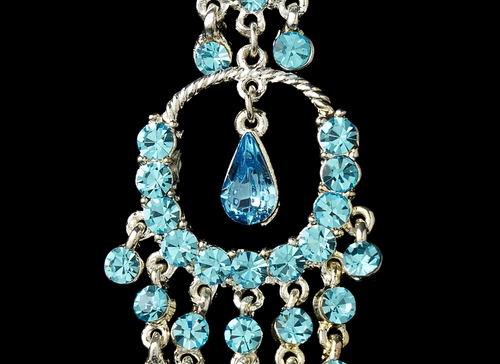 * Earring 801 Aqua *1 Left *