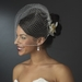 Realistic Looking Bridal Orchid Flower Hair Clip- Clip 400 White
