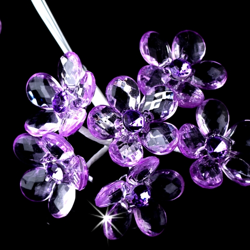 Lilac Crystal Flower Bouquet Jewels BQ 284