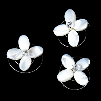 3 Chic Mother Of Pearl Flower Twist-Ins 09