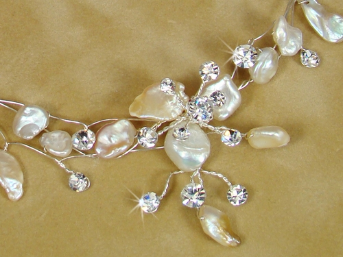 Keshi Pearl Couture Necklace Earring Set NE 8134