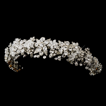Antique Silver Clear Headpiece 704***Discontinued***