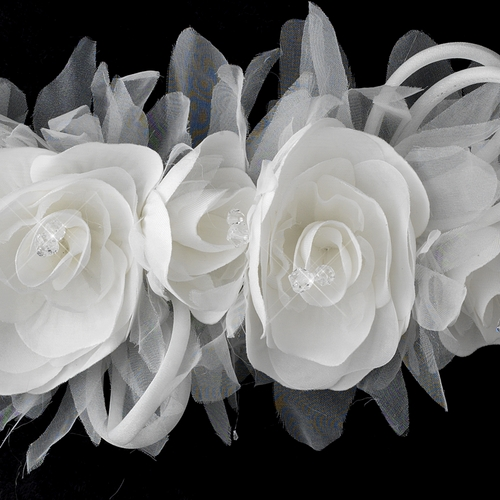 Wonderful White or Ivory Flower Bridal Strap 1