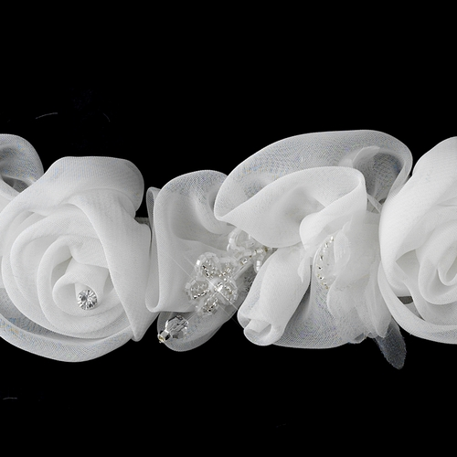 * Lovely White or Ivory Flower Bridal Strap 2
