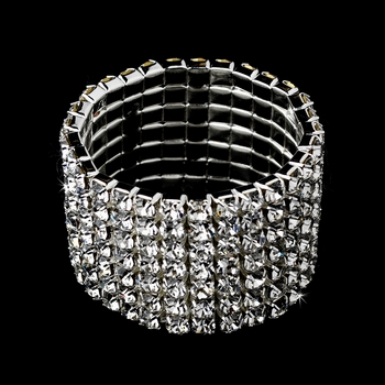 Bouquet Jewelry Rhinestone Stretch Band BQ 112