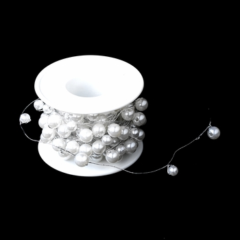 Bouquet Jewelry 273 White Pearl Wire (26 Foot Long)***Discontinued****
