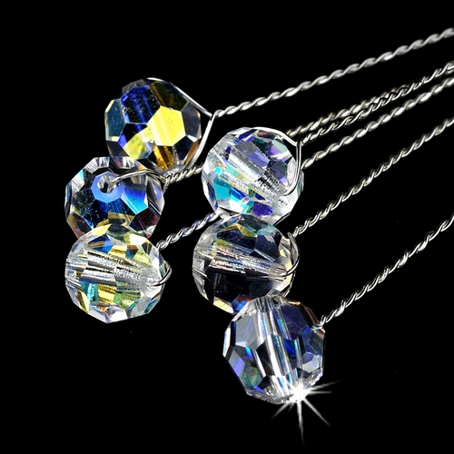 Bouquet Jewelry 301 Silver Clear AB Crystals
