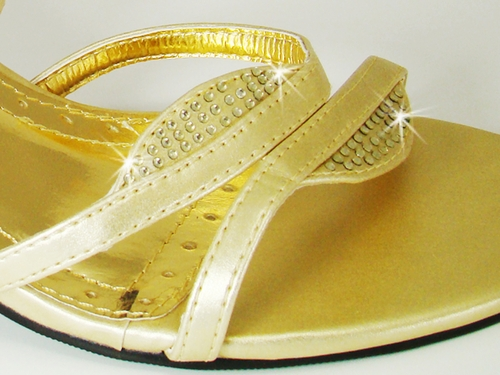 * Enzo Gold Evening Shoes