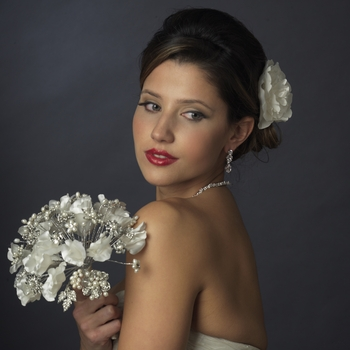 Ivory and White Pearl Bouquet 402