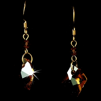 * Earring 8124 Gold Brown