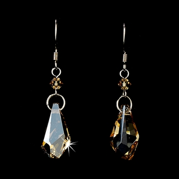 * Earring 8126 Silver Light Brown