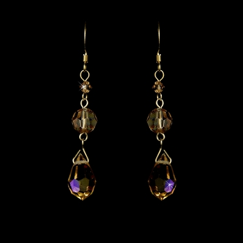 * Earring 8131 Gold Light Brown