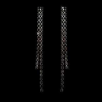 Earring 20543 Silver Black***Only 1 Left ***