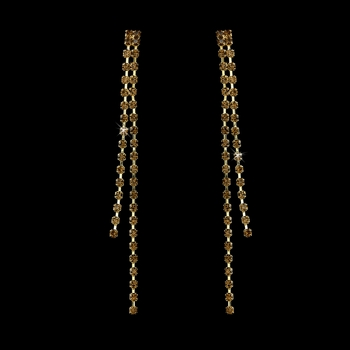 Earring 20543 Gold Brown