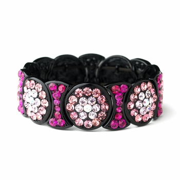 * Luminescent Pink Crystal Fashion Bracelet 8539
