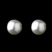Silver White Pearl Earrings 41231