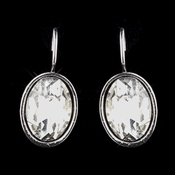 Antique Silver Clear Earrings 8401