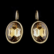 Gold Topaz Bridal Earrings 8401