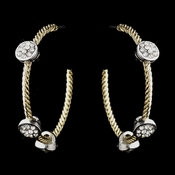 Gold Clear Crystal Hoop Earrings 8837