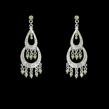 * Earring 804 Silver Green