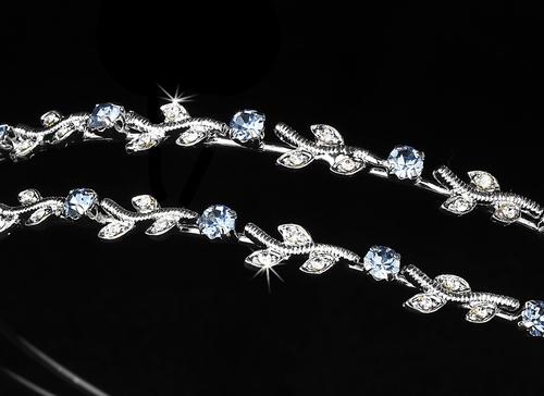 Headpieces 1003 Silver Light Blue