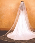 "Veil 153 White - Cathedral Single Layer (108""l x 108"" wide)"