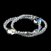 Clear Crystal Ball 2 Row Bracelet 7252