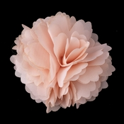 * Dainty Peach Floral Hair Clip with Additional Brooch Pin 9943***Discontinued***
