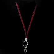 Red Crystal Covered Lanyard