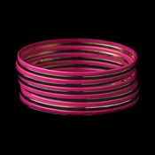 Solitary Golden Fuchsia Sunset Bangle Fashion Bracelet Set 8801
