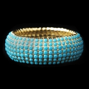 Gold Turquoise Stretch Bracelet 8802