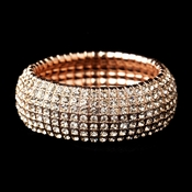 Rose Gold Stretch Bracelet 8803
