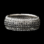 Silver Smoked Stretch Bracelet 8803