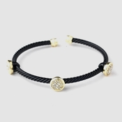 Gold Black Cuff Fashion Bracelet 8806