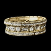 Gold Clear Stackable Bracelet 8809