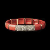 Gold Coral Stretch Bracelet 8811