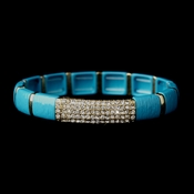 Gold Turquoise Stretch Bracelet 8811