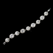 Luminous Round Cut CZ Tennis Style Bracelet in Silver 10583