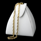 Dyeable Handbag Purse 620 with Gold Chain